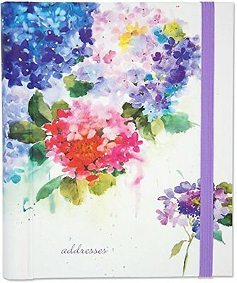 Hydrangeas Large Address Book Hardcover-spiral