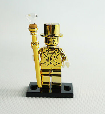 Minifigures New Limited Edition  Mr. Gold Gift Movie Building Toys