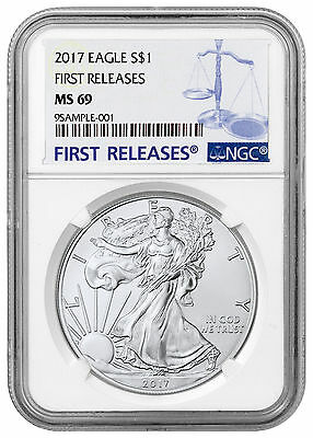 2017 1 oz. American Silver Eagle NGC MS69 First Releases PRESALE SKU44390