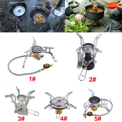 Mini Steel Outdoor Folding Gas Stove Camping Equipment Hiking Picnic Gas Burner