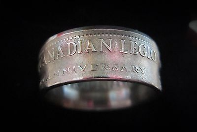 Royal Canadian Legion Coin Ring size 11 1/2