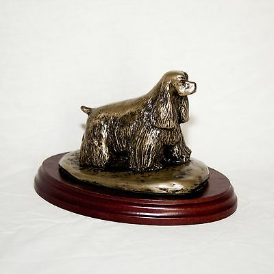 AMERICAN COCKER SPANIEL  Bronze Figurine. Hand made in England. Ideal gift.