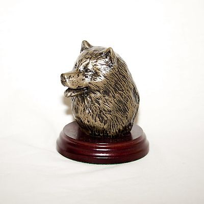 SAMOYED Bronze Head /Bust. Hand made in England. Ideal gift.