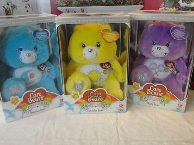 NRFB Care Bears BEDTIME FUNSHINE SHARE BEARS COLLECTIBLES CRYSTAL COLLECTION LOT