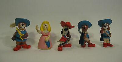 Rare DOGTANIAN AND THE THREE MUSKEHOUNDS 5 PVC FIGURES MAIA&BORGES PORTUGAL 80s