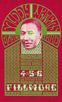 MINT Muddy Waters Quicksilver 1966 BG 35 Fillmore Poster