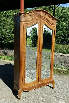 Beautiful carved oak antique french rococo armoire  wardrobe