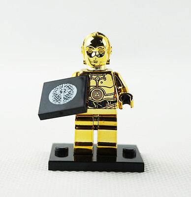 Minifigures Machine Chromed Limited Edition C-3PO Gift Star Wars Building Toys