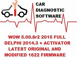 Diagnostic Software 2014 - 2015 For Cars and Trucks +1622 firmware DOWNLOAD ONLY