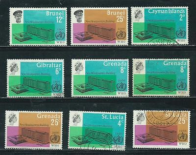 WHO Headquarters Issue - 1966 - 9 stamps mixed - Common Design Types