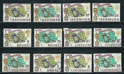 World Cup Soccer Issue - 1966 - 12 stamps mixed - Common Design Types