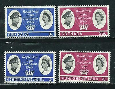 Royal Visit Issue - 1966 - 4 mint (M.H.) stamps - Common Design Types