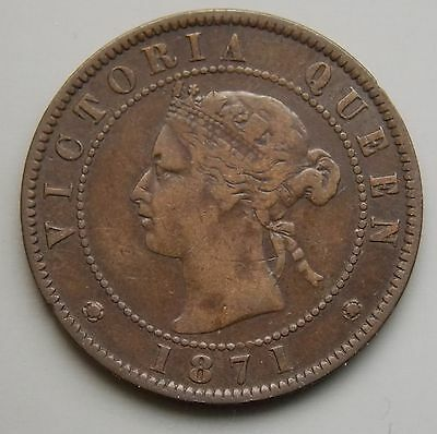 1871 PEI  Prince Edward Island Canada Canadian Large Cent Coin - Queen Victoria