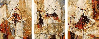 """20X20"""" New DIY Acrylic Paint By Number kit Oil Painting Three Parts Dancer"""
