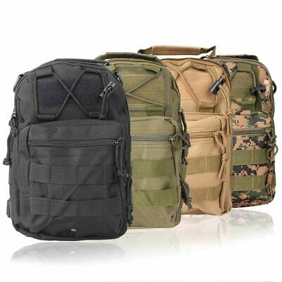 1000D Molle Tactical Utility 3 Ways Shoulder Bag Pouch Backpack  4 Colors