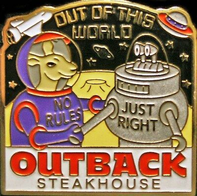 A6223 Outback Steakhouse hat lapel pins Out of This World