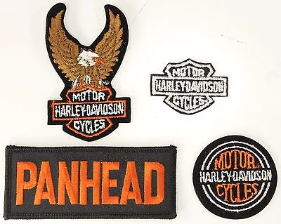 Lot of 4 NEW Small Vintage Harley-Davidson & Other Patches Eagle Panhead