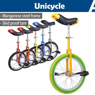 "16 18 20 24"" Wheel Unicycle Uni Cycle Balance Fun Bike Skidproof Scooter Circus"