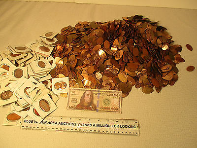 Huge Lot (50) UNSEARCHED Elongated US Cent, Penny, From Recent Coin Convention