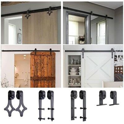 1.83/2m Sliding Barn Door Hardware Set Track Rail Interior Closet Home No Joint