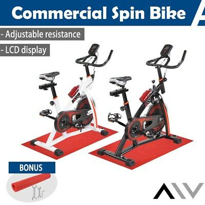 AW™ Commercial Spin Bike Fitness Exercise Gym Workout Home Pulse Monitor w/ Mat