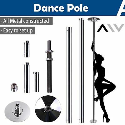 AW™ 45mm Portable Dance Pole Static Spinning Gym Fitness Exercise 2 Extension