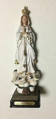 """12"""" Our Lady of Fatima Blessed Virgin Mary Rosary Statue Figurine NEW!!"""