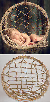 New Creative Photography Props Handmade Woven Basket for Newborn Baby D-60