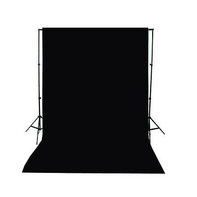 3X5FT Black Thin Vinyl Studio Backdrop Photography Prop Photo Background US SHIP