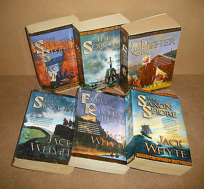 FIRST 7 CAMULOD CHRONICLES Jack Whyte lot Skystone, Saxon Shore, Singing Sword,