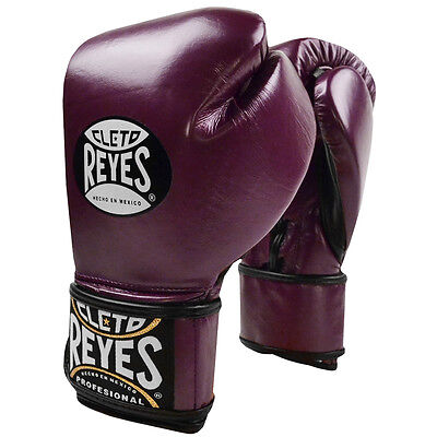 Cleto Reyes Lace Up Hook and Loop Hybrid Boxing Gloves - Purple