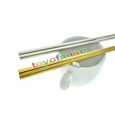 1 Pair Plating Gold Chopsticks Stainless Steel Chop Stick Tableware For Gifts
