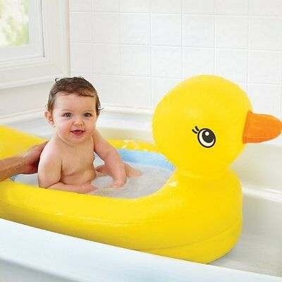 Inflatable Duck Tub for Infants Newborn Toddler Baby Bath Splash Fun