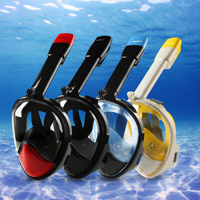 Full Face Snorkeling Mask Snorkel Diving Goggles Pipe for Gopro -2nd Version New