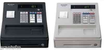 White or Black Cash Register Shop Till Lockable Drawer Sturdy Reliable Compact