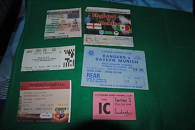 6 X Mixed Used Football Ticket Stubs Listed