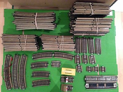 Job lot of over 100 pieces of Marklin 3600 series 3 Rail Track