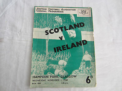 1950-51  INTERNATIONAL SCOTLAND v NORTHERN IRELAND