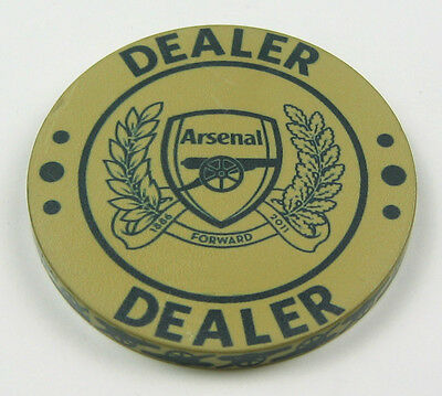 Arsenal Gold - Double Sided Ceramic Dealer Button, 60mm Diameter
