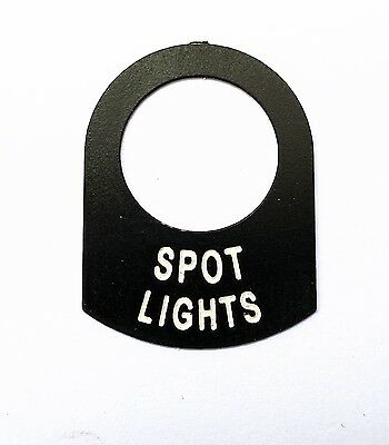 Land Rover Series 1 2  2a Spot Lights switch tag legend