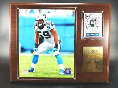 Luke Kuechly Carolina Panthers Holz Wandbild 38cm,Plaque Wall Pic NFL Football
