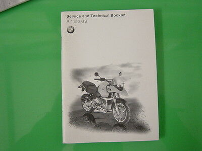 Genuine Bmw R1150Gs Service And Technical  Booklet