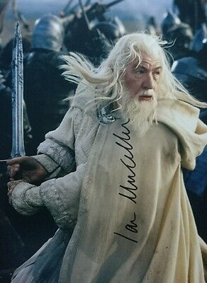Sir Ian McKellen signed Gandalf Lord Of The Rings 10x8 PROOF AFTAL