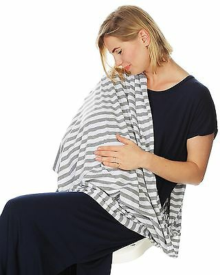 Kiddo Care Nursing Cover Infinity Nursing Scarf for Breastfeeding (Grey White...