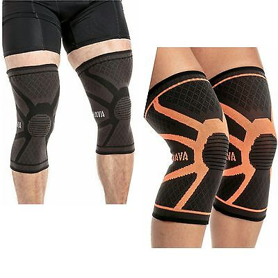 Mava Sports Knee Compression Sleeve Support (Pair) Joint Pain & Arthritis-Large