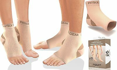Plantar Fasciitis Socks with Arch Support BEST 24/7 Foot Care Compression L/XL