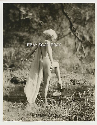 Jean Harlow Nude Risque Vintage Edwin Bower Hesser Griffith Park Photo