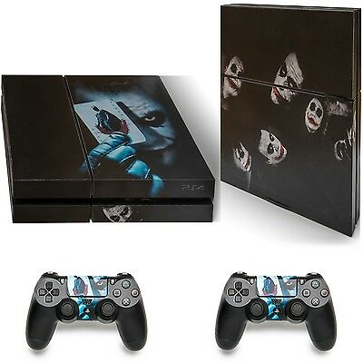 PS4 Playstation 4 Batman Joker Skull Skin Sticker Decal Console 2 x Controller