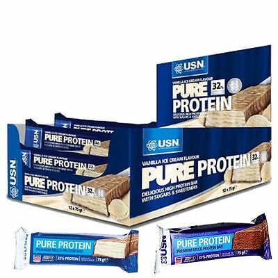 USN Pure Protein Snack Bars 75g x 12