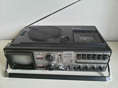 sharp radio cassette tv
